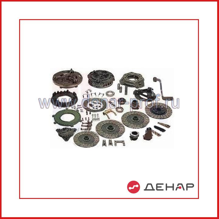 Набор типовых элементов фрикционного сцепления: ведомые и нажимные диски в сборе, вилки выключения сцепления, муфты сцепления