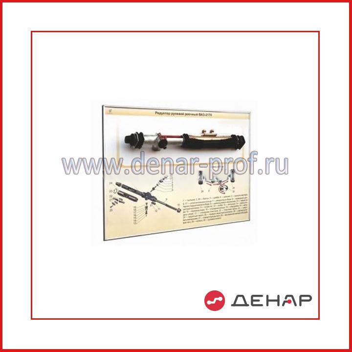 Стенд-планшет «Рулевой механизм реечный ВАЗ-2170»