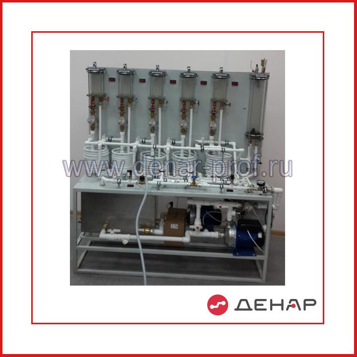 Типовой комплект учебного оборудования Насосные станции в системах подачи воды в многоэтажных зданиях НС-МНЭЗ-011-10ЛР-01-ПК