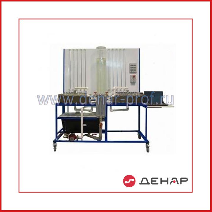 Лабораторный стенд «Гидравлические характеристики модели нефтяного пласта». НФТ-МНП-ГХ-011-4ЛР-01-ПК