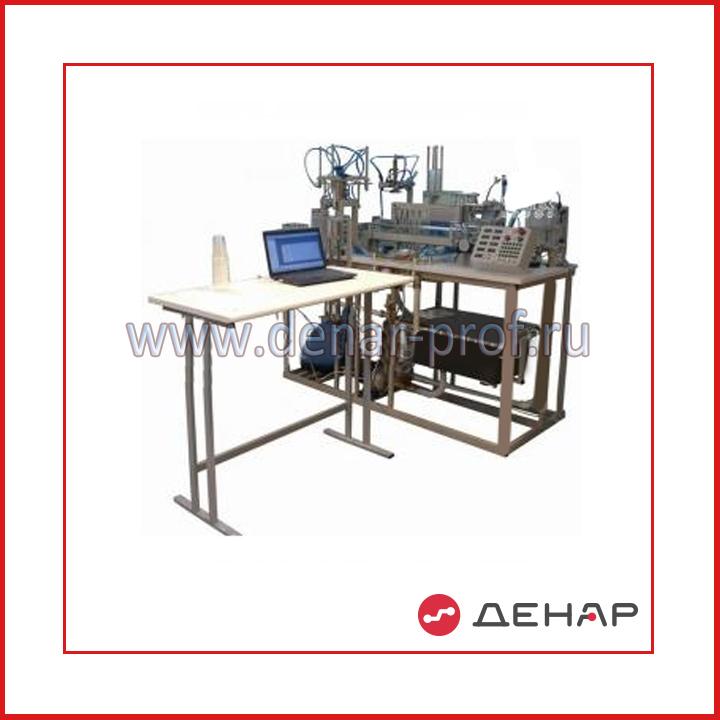 Типовой комплект учебного оборудования «Автоматизированная линия подготовки тары, дозирования и упаковки жидкости» АЛ-ПТДУЖ-16ЛР-01