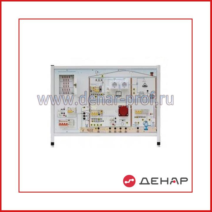 """Типовой комплект учебного оборудования «Монтаж и наладка электроустановок до 1000В в системах электроснабжения """", исполнение настольное"""