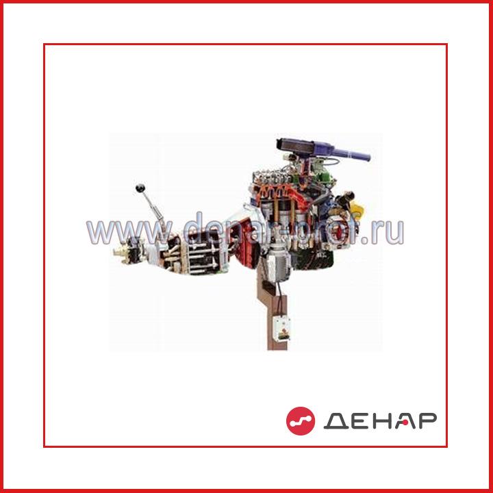 02.06.02.1 Двигатель ВАЗ 2101 - 07 с навесным оборудованием в сборе со сцеплением и коробкой передач (агрегаты в разрезе) с электромеханическим приводом