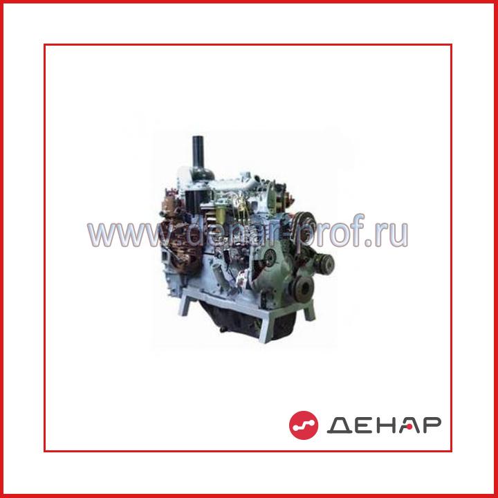 Двигатель строительных машин типа А-41 (агрегаты в разрезе)