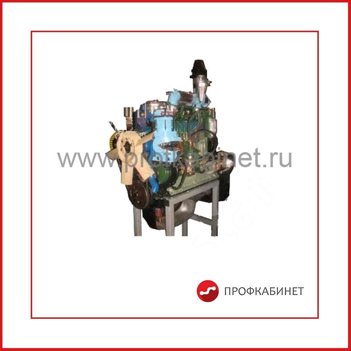Двигатель сельскохозяйственных машин СМД -15 (22) (агрегаты в разрезе) с электромеханическим приводом